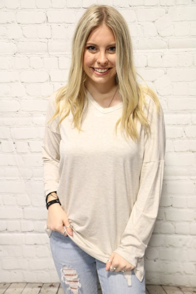 Time To Go Long Sleeve V-Neck Top In Multiple Colors Sizes 4-10