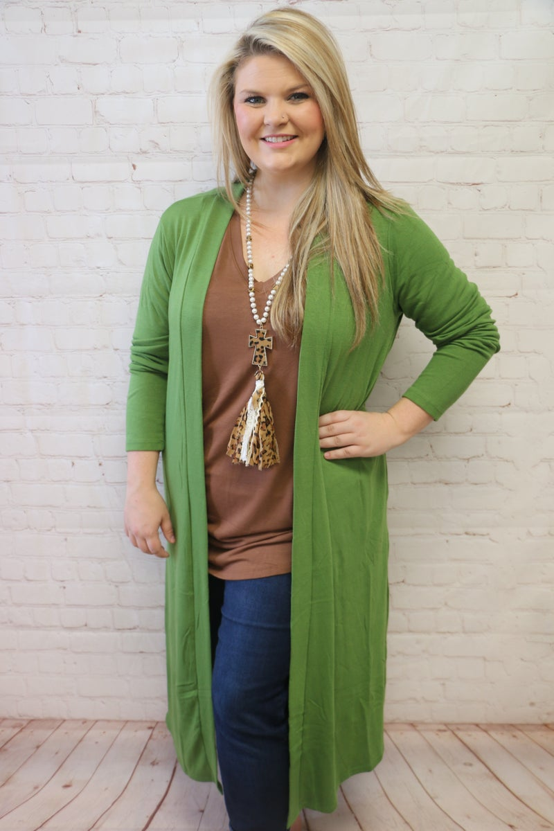 All Of Me Sweater Duster Cardigan with Side Pockets in Multiple Colors - Sizes 4-20