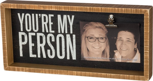 You're My Person Inset Photo Box Frame