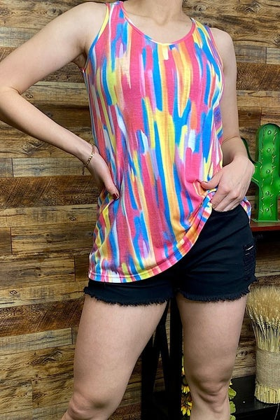 Colorful & Bright Fun Summer Tank Top - Sizes 4-20