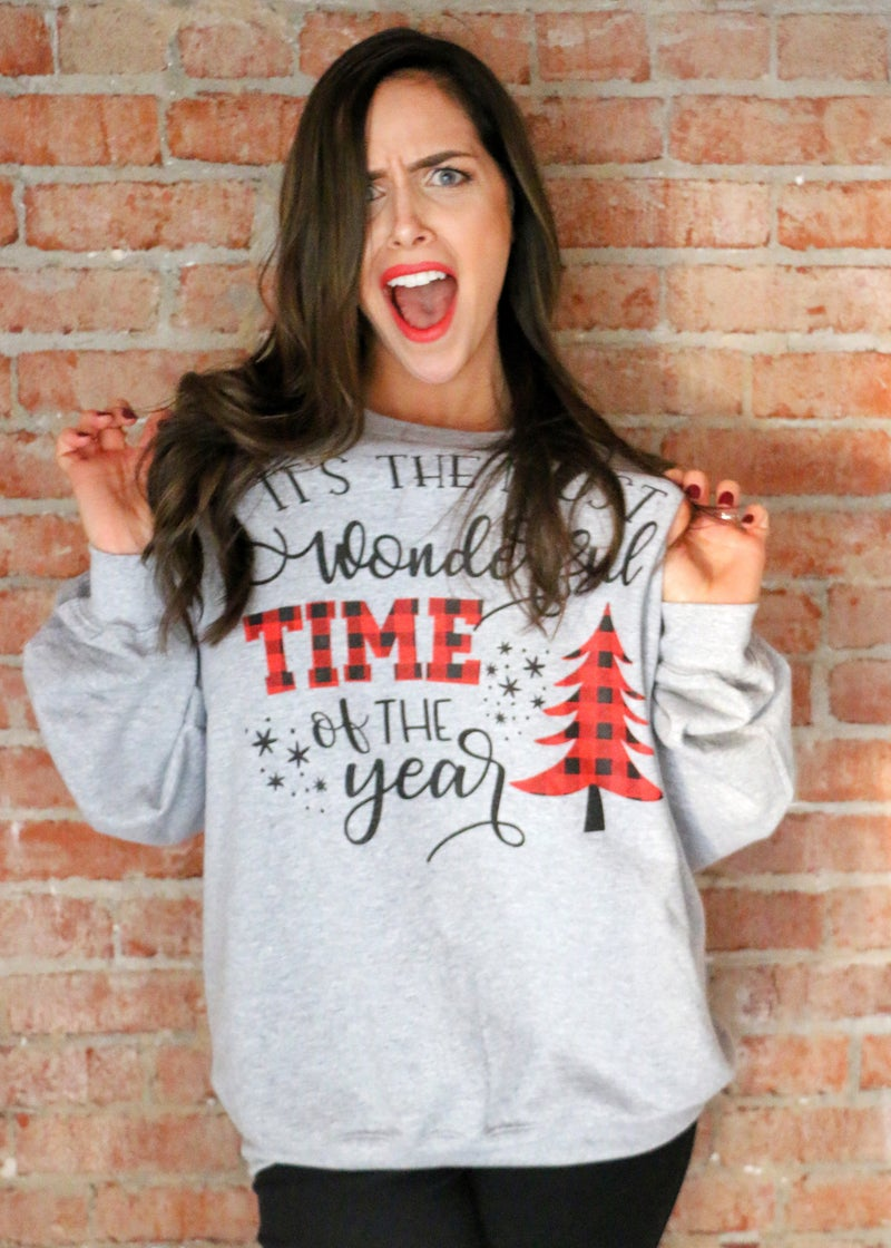 It's The Most Wonderful Time of the Year Sweatshirt in Multiple Colors - Sizes 4-20