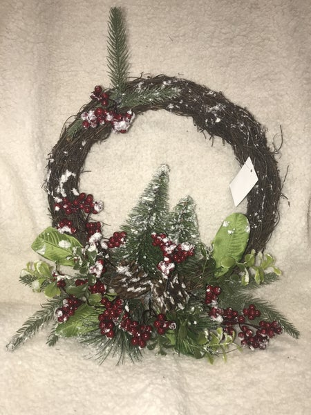 Christmas Pine Wreath with Berries