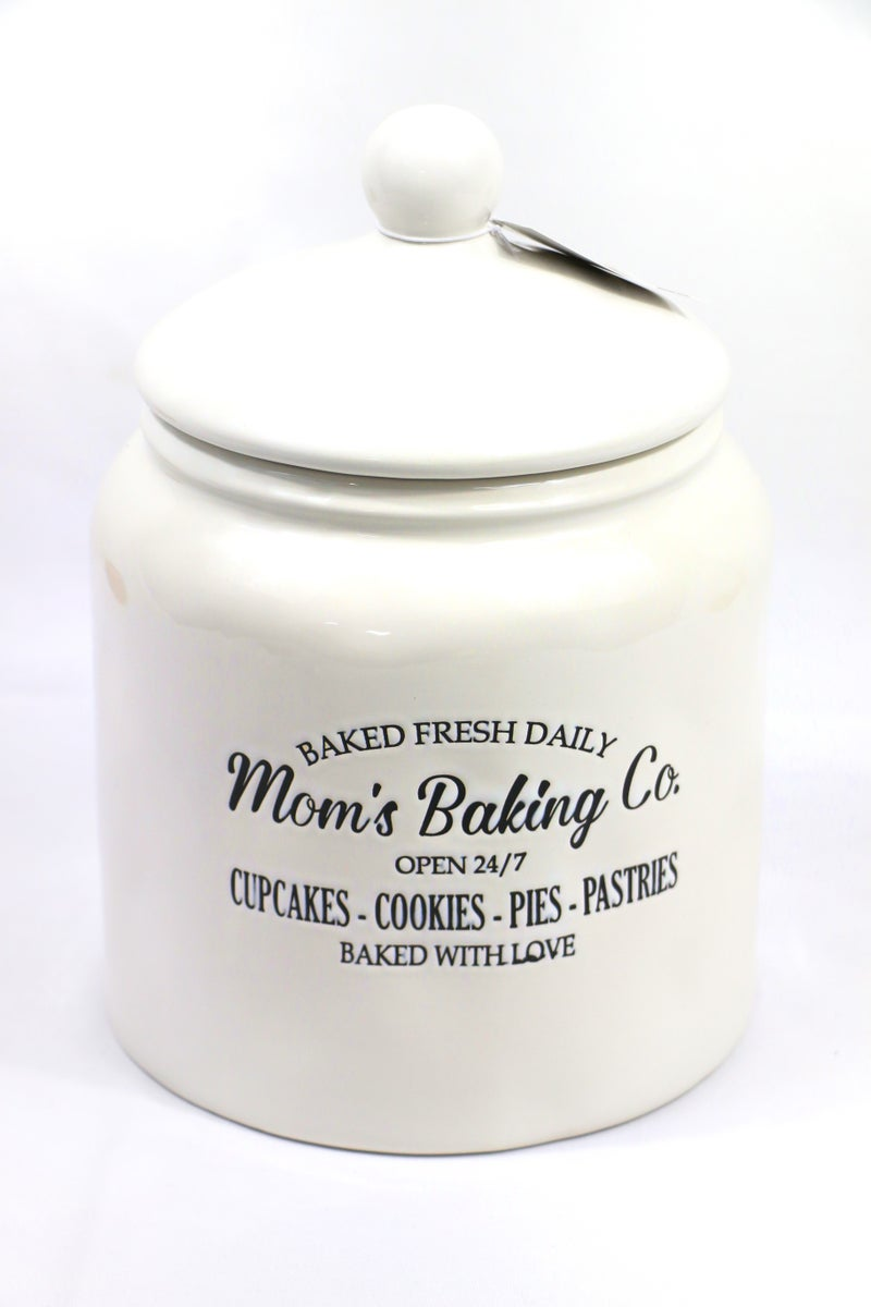 Mom's Baking Co. Ceramic Treat Jar