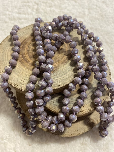 Lilac Point Of Perfection Beaded Necklace