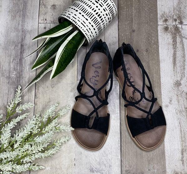 Gypsy Jazz Black Step-in Into Summer Sandal