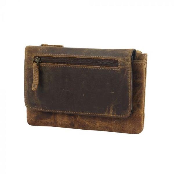 Myra Bags Oak Fire Leather Wallet