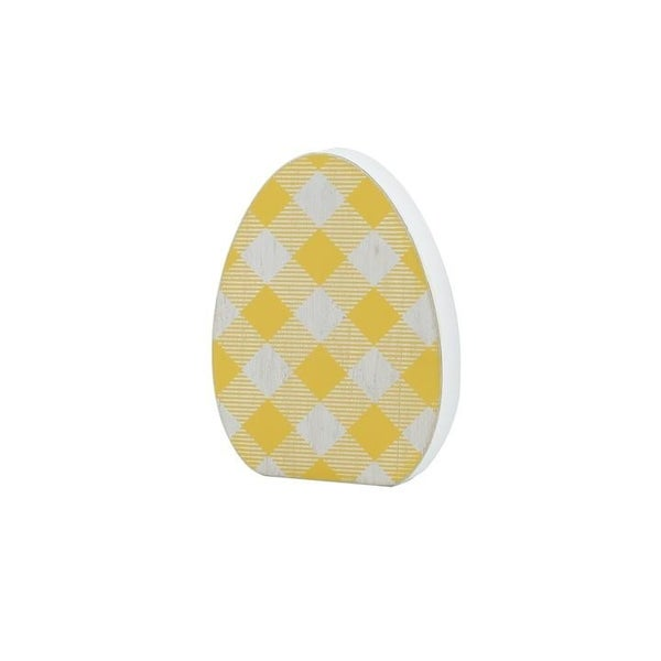Home Décor Yellow Plaid Egg Cutout
