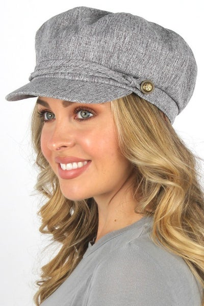 Gray Casual Newsboy Cap Cabbie Hat