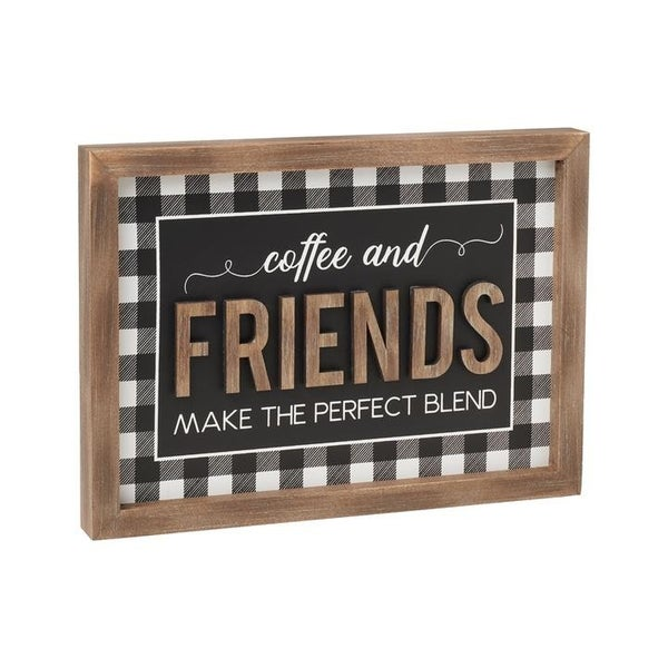 Home Decor Checkered Perfect Blend 3D Frame