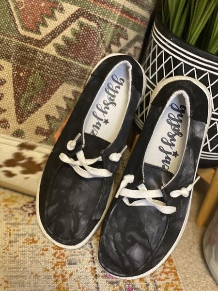 Gypsy Jazz Very G Black & White Tie Dye Sneaker