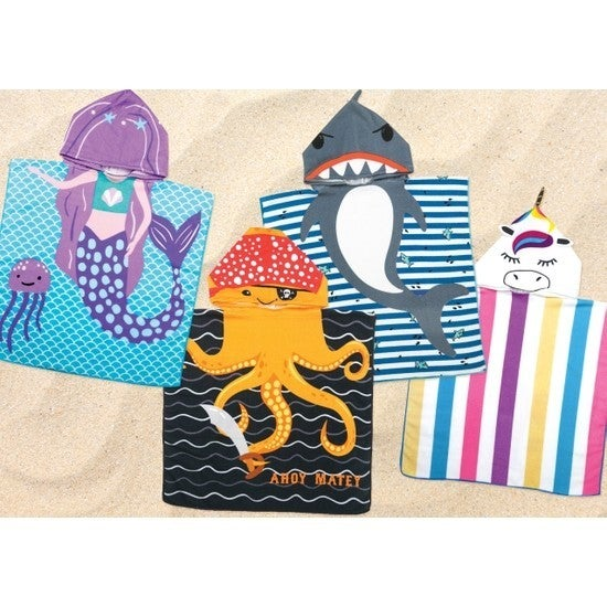 Fun in the Sun Hooded Towels for Kids Assortment