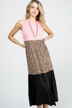 Animal Print Color Black Maxi Dress