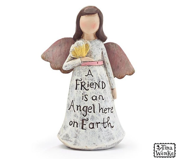 Home Décor  Angel Friend Figurine Message