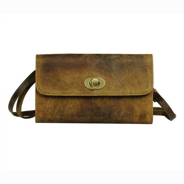 Myra Bags Beige Matte Wallet