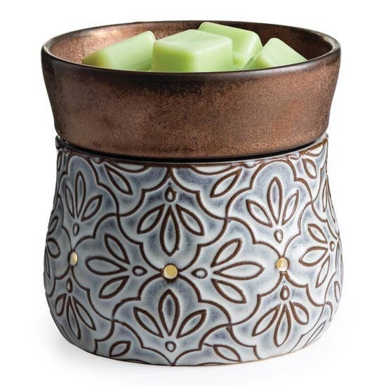 Fragrance Wax Warmers Bronze Floral