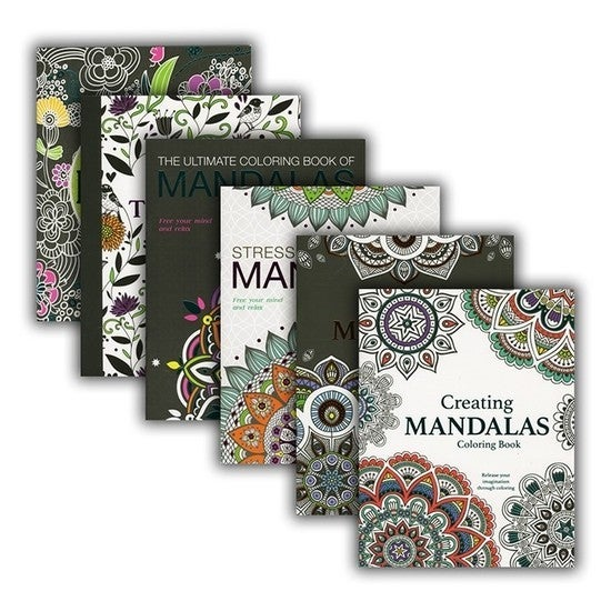 Adult Mandala Coloring Book & Crayon Set