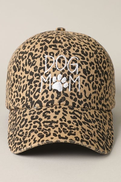Dog Mom Embroidered  Print Baseball Cap