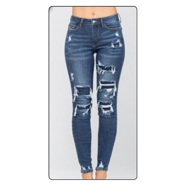 Judy Blue Patched Denim