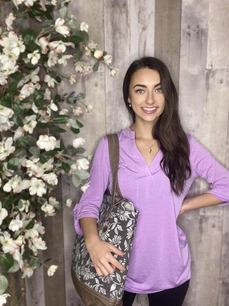 Honeyme Lavender Gabby Top