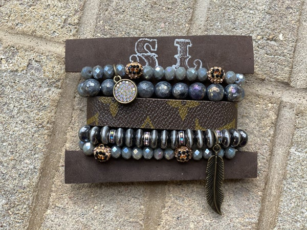 Upcycled Couture Gray Stack Set!