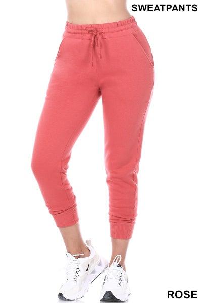 Zenana Rose Jogger Style Sweatpants