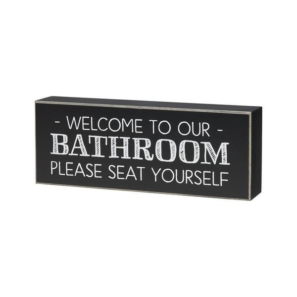 Home Décor Seat Yourself Block Sign