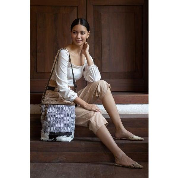 Myra Bags Elegant Canvas Shoulder Bag