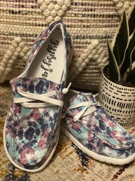Gypsy Jazz Very G Tie Dye Blue & Raspberry Sneakers