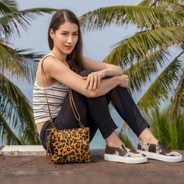 Myra Bags Retro Leopard Print Crossbody