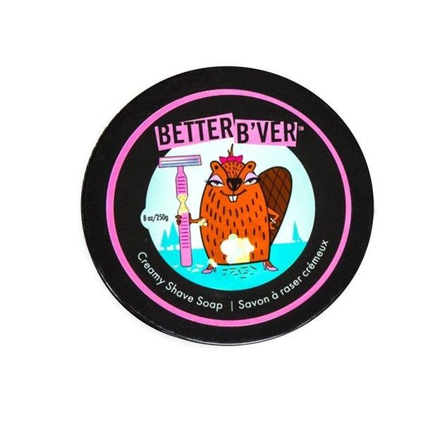 Better B'VER Creamy Shave Soap 8 oz