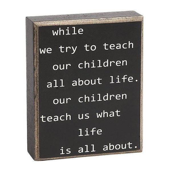 Home Décor While We Teach Our Children About Life...