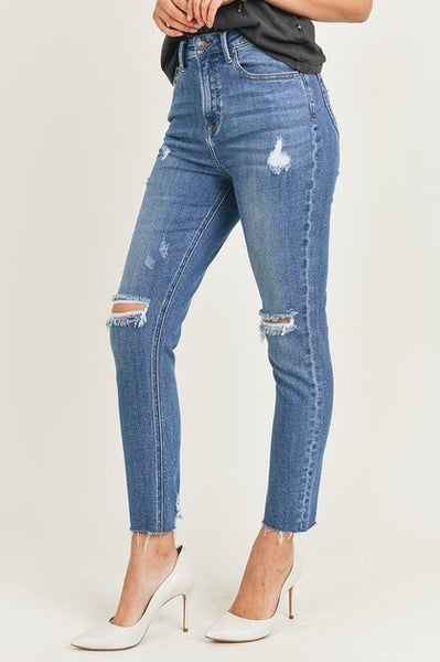 Risen High Rise Distressed Relaxed Fit