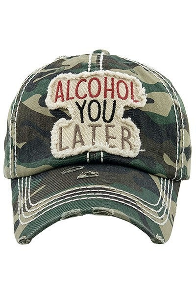 Baseball Cap Alcohol You Later Baseball Cap