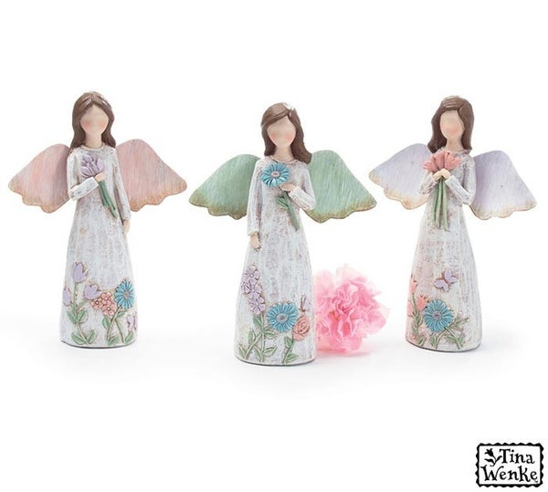 Home Décor Full Bloom Assorted Angel Figurines