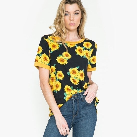 Spring Is Here Sunflower Tee