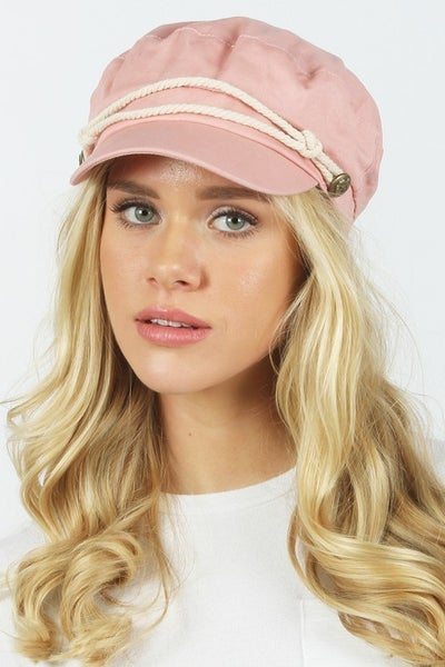 Pink Women's Greek Fisherman's Sailor Fiddler Visor Hat