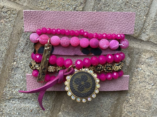 Upcycled Couture Pink & Leopard Stack