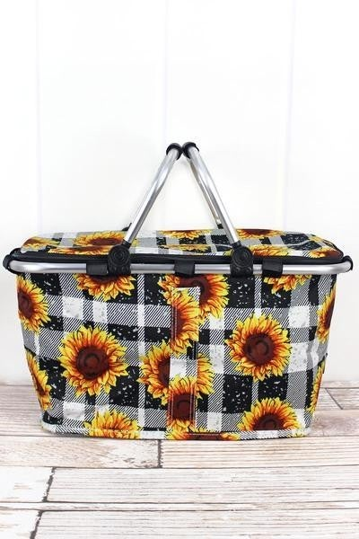 COLLAPSIBLE INSULATED MARKET BASKET WITH LID