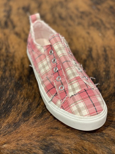 Corky's Pink Plaid Babalu Sneaker