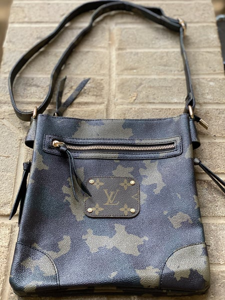 Upcycled Couture Camo Cross Body!