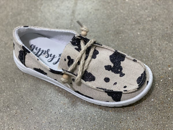 Gypsy Jazz Very G Sparkly Cow Canvas Shoe(ARRIVING IN JULY)