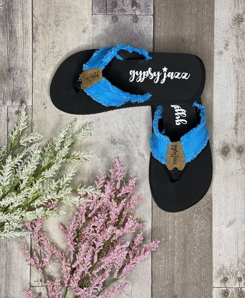 Gypsy Jazz Very G Turquoise Distressed Sandal