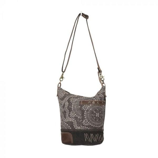 Myra Bags Vintage Carved Shoulder Bag