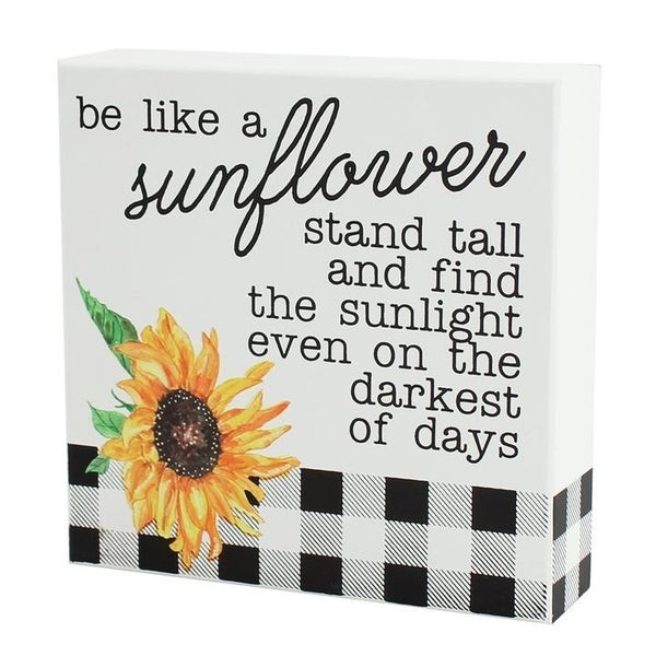 Home Décor Be Like A Sunflower Box Sign