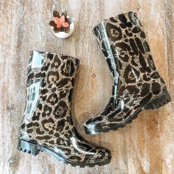 Corkys Riverwalk Leopard Rain Boots