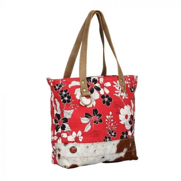 Myra Bag Coral Flower Tote Bag