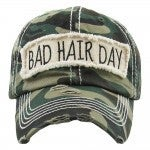 Bad Hair Day Vintage Camo Baseball Cap