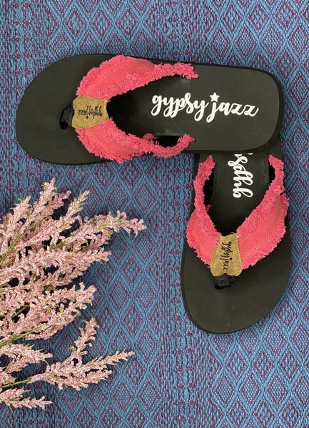 Gypsy Jazz Very G Pink Distressed Sandal