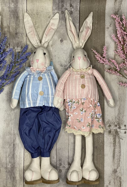 Home Decor Johnny & Julia Bunnies
