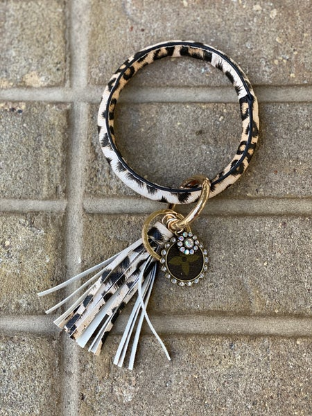 Upcycled Couture Key Chain Bracelet